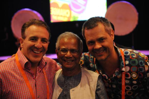 Greg and Dr. Muhammad Yunus at EO Amsterdam, 2011