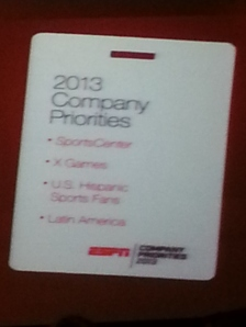 priorities card